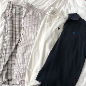 2 polos and 2 short sleeve button down